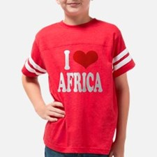 iloveafricawht Youth Football Shirt