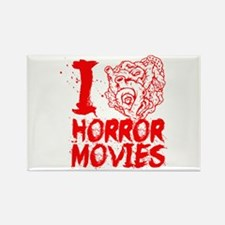I love horror movies Rectangle Magnet