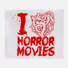 I love horror movies Throw Blanket