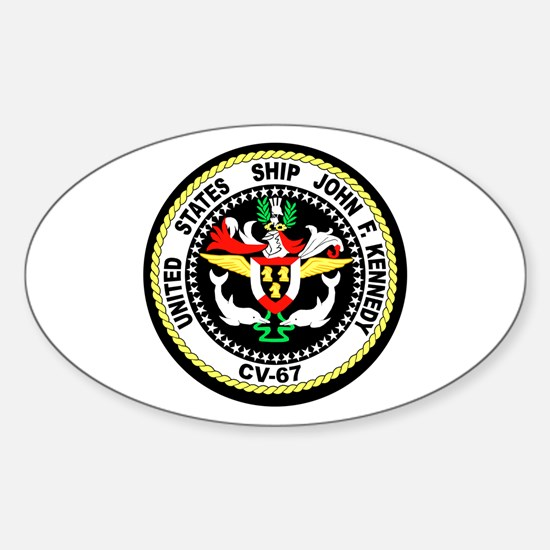 USS John F. Kennedy Oval Decal
