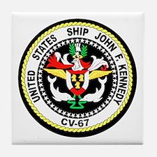 USS John F. Kennedy Tile Coaster