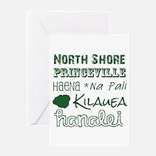 North Shore Kauai Subway Art Greeting Cards