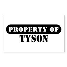 Property of Tyson Rectangle Decal