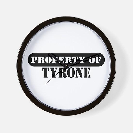 Property of Tyrone Wall Clock