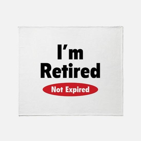 I'm retired- not expired Stadium Blanket