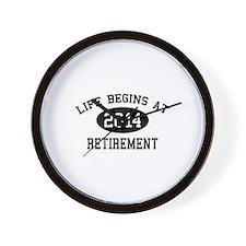 Life begins at 2014 Retirement Wall Clock