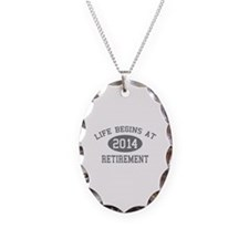 Life begins at 2014 Retirement Necklace Oval Charm