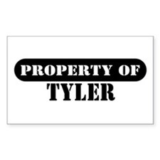 Property of Tyler Rectangle Decal