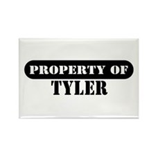 Property of Tyler Rectangle Magnet