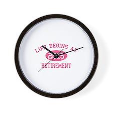 Life begins at 2015 Retirement Wall Clock