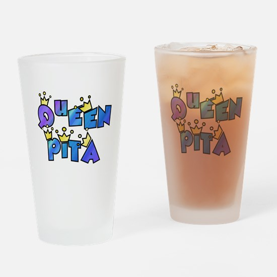queen pita Drinking Glass