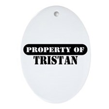 Property of Tristan Oval Ornament