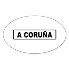 Roadmarker La Coruña - Spain Oval Decal