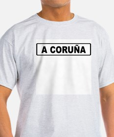 Roadmarker La Coruña - Spain Ash Grey T-Shirt