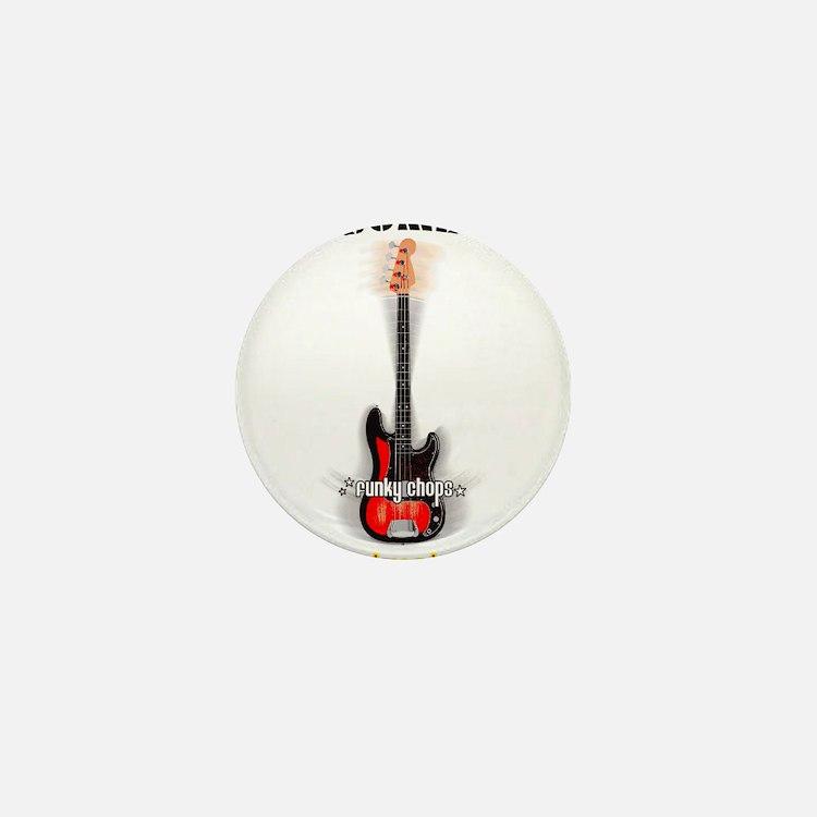 FUNKYCHOPS.COM Slap Bass Guitar Mini Button