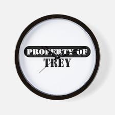 Property of Trey Wall Clock
