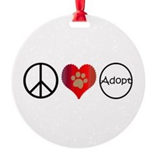 Peace Love Adopt Ornament