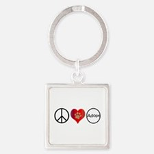Peace Love Adopt Keychains