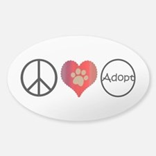 Peace Love Adopt Decal