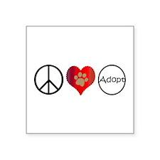Peace Love Adopt Sticker