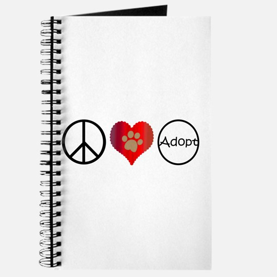 Peace Love Adopt Journal