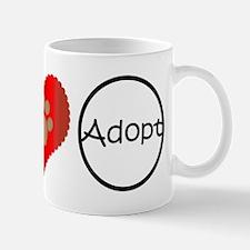 Peace Love Adopt Mugs