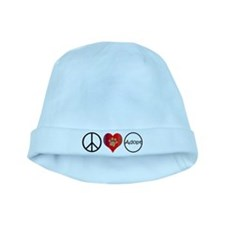 Peace Love Adopt baby hat