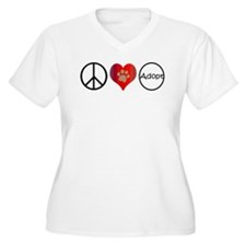 Peace Love Adopt Plus Size T-Shirt