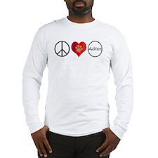Peace Love Adopt Long Sleeve T-Shirt