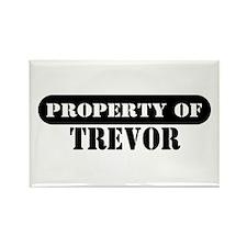 Property of Trevor Rectangle Magnet (10 pack)