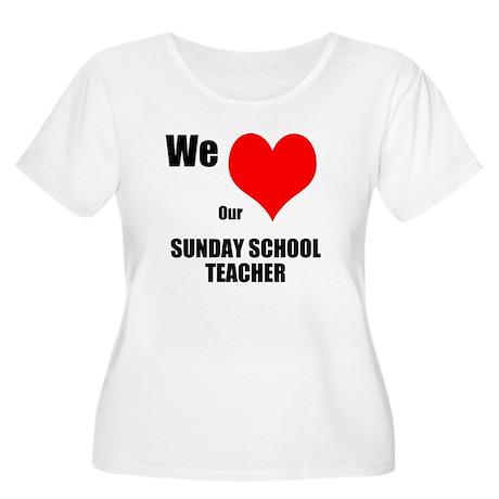Women's Scoop Neck T Sunday Plus Size T-Shirt