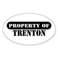 Property of Trenton Oval Decal