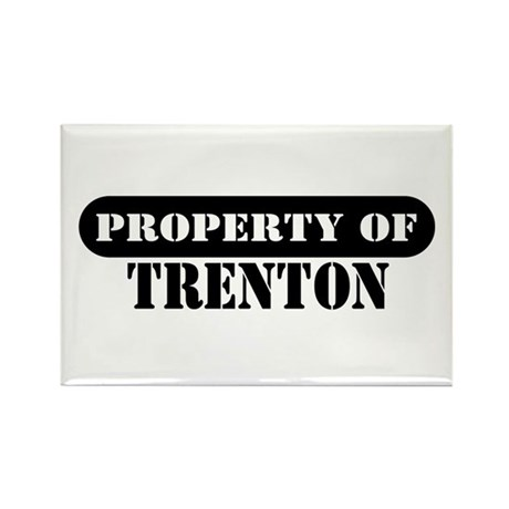Property of Trenton Rectangle Magnet (10 pack)