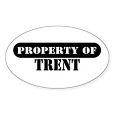 Property of Trent Oval Decal