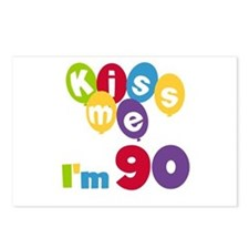 Kiss Me I'm 90 Postcards (Package of 8)