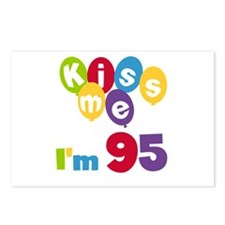 Kiss Me I'm 95 Postcards (Package of 8)