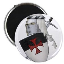 """Knights Templar 2.25"""" Magnet (10 pack)"""