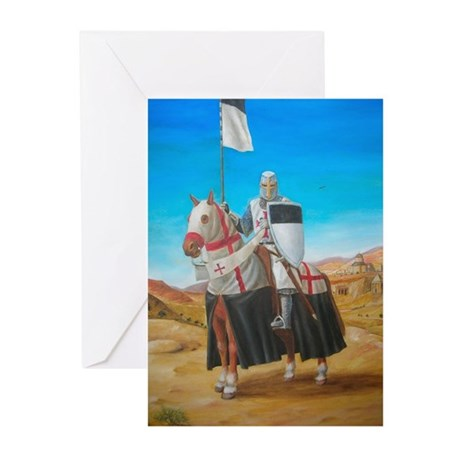 Knights Templar Greeting Cards (Pk of 10)