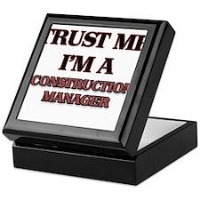 Trust Me, I'm a Construction Manager Keepsake Box