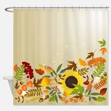 Golden Thanksgiving Shower Curtain
