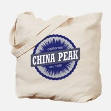 China Peak Ski Resort California Navy Blue Tote Ba