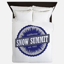 Snow Summit Ski Resort California Navy Blue Queen