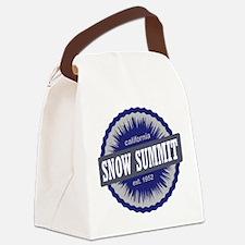 Snow Summit Ski Resort California Navy Blue Canvas