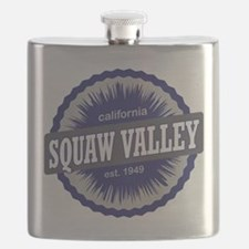 Squaw Valley Ski Resort California Navy Blue Flask