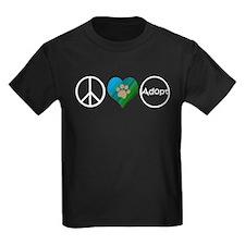 Peace Love Adopt T-Shirt
