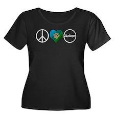 Peace Love Adopt Plus Size T-Shirt