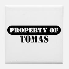 Property of Tomas Tile Coaster
