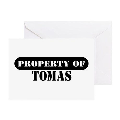 Property of Tomas Greeting Cards (Pk of 10)