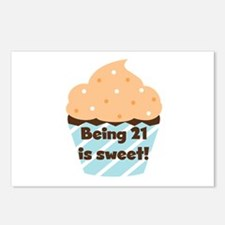 Being 21 is Sweet Birthday Postcards (Package of 8