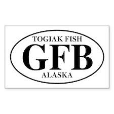 Togiak Fish Rectangle Decal